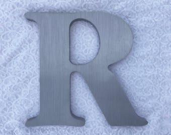 """R 12"""" metal sign letter"""
