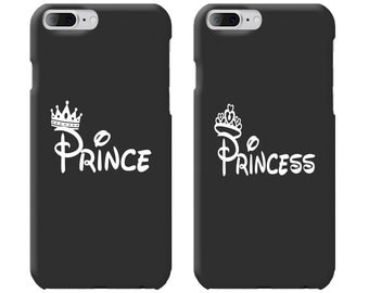 Prince & Princess Couple Phone Case Mate - iPhone, Samsung Galaxy Phone Cases for Couples - Matching Phone Case