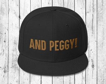 and Peggy! - Hamilton inspired black snapback cap