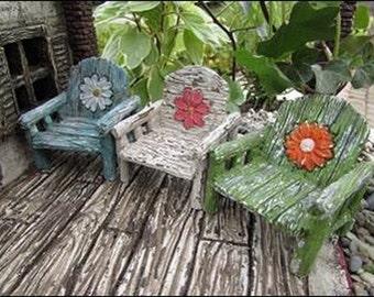 Fairy Garden  - Daisy Chair Green - Miniature