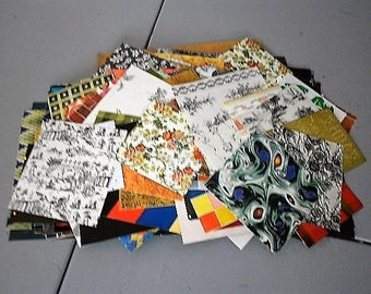 Pack of 200+ pieces of paper for scrapbooking, collage, carterie, punches, altered art ...