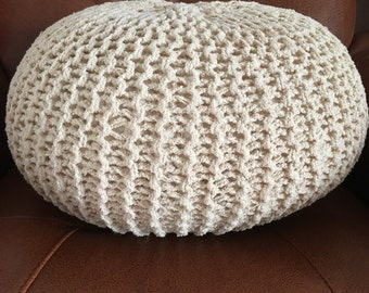 Hand knitted pouf/footstool ONLY one available!!!