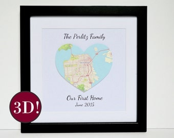 3D Map for Housewarming Present, New Home Gift