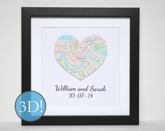 Couples Map Art- 3D OPTION