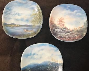 Arabia Finland Hanging Plates Set of 3