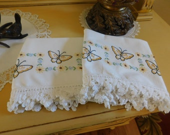 Vintage Butterflies and Flowers Pillowcases