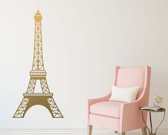 Large eiffel tower wall decal