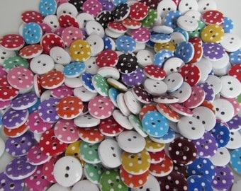 15mm Wooden Spot Buttons