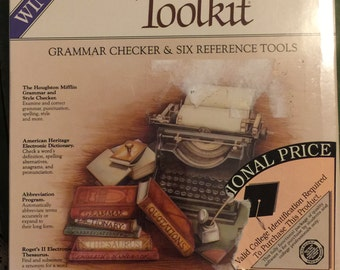 The Writers Toolkit Computer Program; Writers Handy Toolkit with Theasaurus, Grammer check, etc.....
