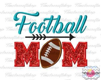 Football Mom Applique Embroidery Design dst, exp, hus, jef, pes, sew, vip, vp3, Formats Digital INSTANT DOWNLOAD