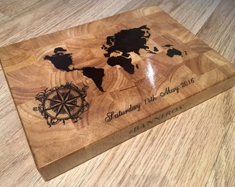 Bespoke end grain cutting board (any custom design available at request)
