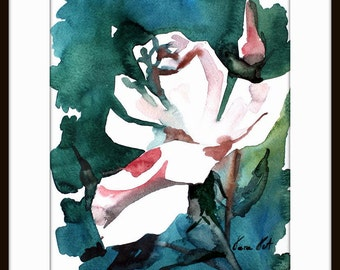 Flower Watercolor Painting - Floral  Art Print  - Watercolor Flower Watercolor Painting Flower Painting Floral Art 021