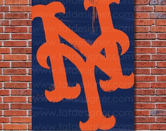 New York Mets Graffiti- Art Print - Perfect for Mancave