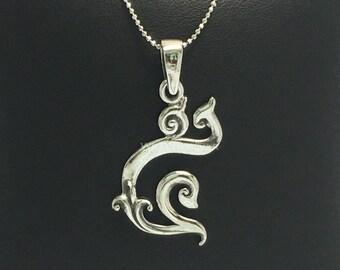5-9 Thai number  silver pendant handmade Thailand