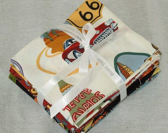 Route 66 Fat Quarter Bundle of 8