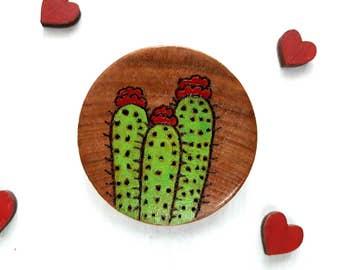 Cactus Brooch, Cactus Jewelry, Cactus Pin, Cactus Gift, Succulent Brooch, Succulent Pin, Succulent Gift, Cacti Gift, Cacti Jewelry