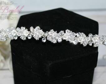 Swarovski Tiara, Quinceanera Tiara, Crystal Swarovski Headband, Tiara ,Wedding Tiara  , Wedding Headpiece, Bridal Tiara, Crystal Headband