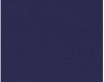 Solid Navy Blue Sweatshirt Fabric - 100% Organic Cotton
