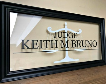Judge Gifts, Judge, Gifts for Lawyers, Attorney Gift, Commercial Business Sign, Custom Business Sign, Office Sign, Business Sign, B104