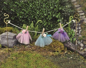 Fairy Garden Washing Line | Miniature Garden Washing Line | Fairy Garden Accessories | Fairy Washing Line