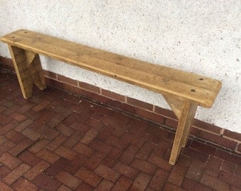 Wooden bench rustic french style dining 5 or 6 foot other sizes also available