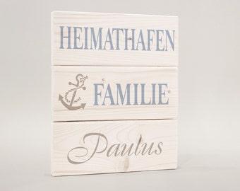 Door sign, door sign family name, Familenschild