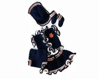 Baby girl crochet pattern, BABY CROCHET PATTERN, Denver bronco cowgirl, Team costumes