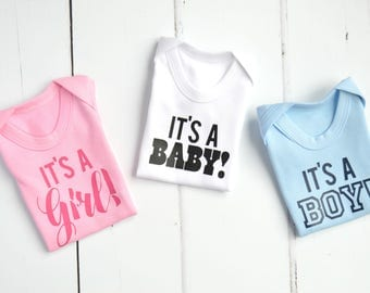 It's a Girl! It's a Boy! It's a Baby | Gender Reveal Ideas | Its a Girl Announcement | Its a Boy Announcement | Gender Reveal Outfit