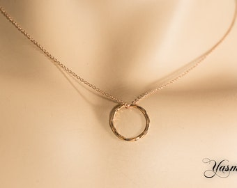 Sparkling circle to 925 Silver rose gold plated