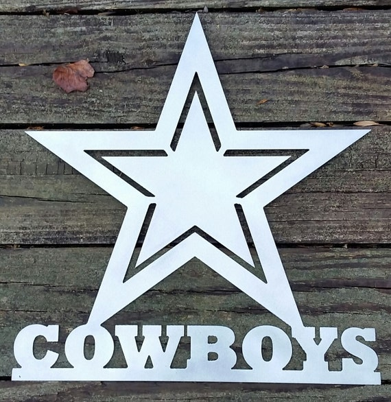 Dallas Cowboys Welcome Home Sign: 17 Cowboys Metal Sign