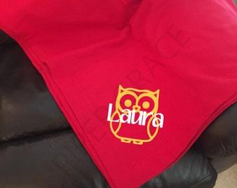 Owl Blanket, Owl Decor, Owl Decorations, Owl Home Decor, Owl Blanket, Owl Room Decor, Owl Throw Blanket, Owl Blankets, Sweatshirt Blanket