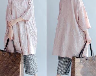 women cotton blouses/women loose tops/women leisure cotton blouses/women comfortable blouses/women cotton shirt/QZ04BJT1511
