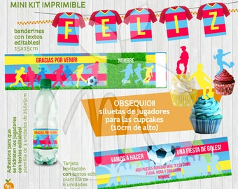 Girl / Boy SOCCER Printable Kit. Editable Texts for your Birthday Party! INSTANT DOWNLOAD!!