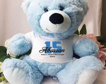 Personalised Birthday Bear - Light Blue