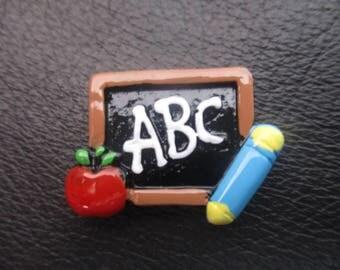 ABC school board chalk board needleminder  needlekeeper  magnet