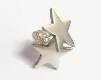 Sterling Silver Star Stud Earrings - Handmade tiny star ear studs for an understated elegant outfit