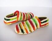 Teen Girl Slippers, Boho Slippers, Crochet Wool Slippers, Gift for girlfriend, Valentine's gift, Girl Home Shoes, Woman Slippers, Wife gift