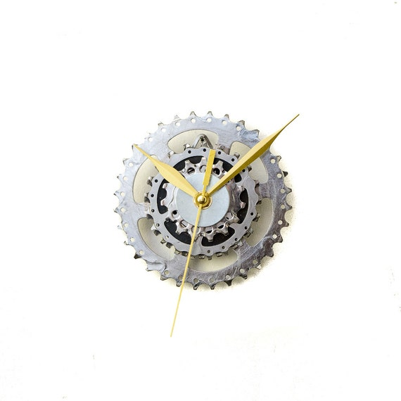 Bicycle Clock, Steampunk Bike Gear Clock, Bicycle Gear, Wall Clock, Recycled Bike Parts, Wall Clock, Cycling Clock, Cyclist Wall Clock