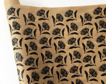 Wrapping Paper - Thistle Wrapping Paper in Black, 9 ft roll, Gift Wrapping Paper, Floral Wrapping Paper, Paper Table Runner, Kraft Wrapping