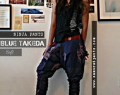 Blue Takeda Bamboo Soft Ninja Pants (unisex) NK9D