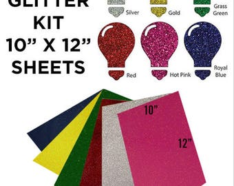 6 Sheets GLITTER Heat Transfer Vinyl, Glitter HTV, HTV Glitter, Heat Transfer Glitter, Heat Transfer Glitter Vinyl, Heat Transfer Vinyl
