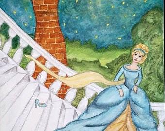 Cinderella - Signed Print of Original Painting by Artist: Heidi Ramseur Lee