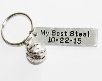MY BEST STEAL. Personalized Basketball Keychain. Couples Keychain. Boyfriend Gift. Husband Gift. Girlfriend/Wife Gift. Athlete. Basketball
