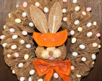 Happy Easter! Themed Deco Mesh Wreath