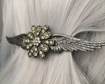 Gift-For-Her Hair Clip, Christmas Gifts for Her or Wing Hair Clip - Thick Hair Clip -  Angel Wing Hair Clip - Wing Hair Clips