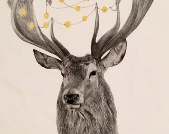 Deer and Mice – an illustrated t-shirt by Robert Clear