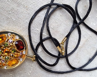 Marilyn Miglin Pheromone Solid Perfume Rhinestone Necklace/Pendant