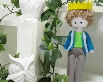 Prince, rag doll, little gentleman, plush, doll boy, prince doll