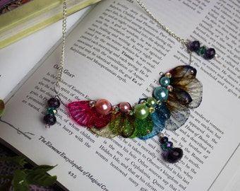 Magical Rainbow Fairy Wing/Butterfly - Statement Necklace