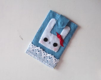 Kawaii, Cute, Bunny, Felt, Pastels, Phone Case, Gift Idea